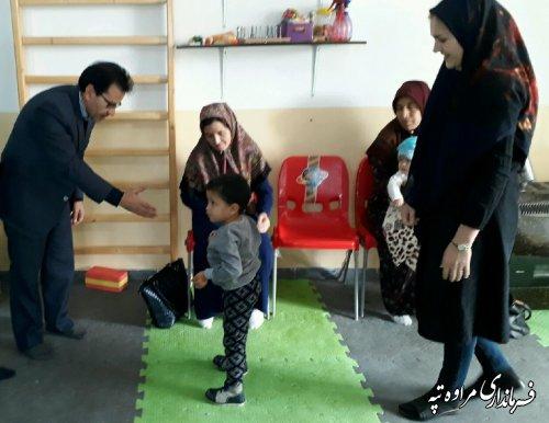 بازدید فرماندار مراوه تپه از مرکز آموزشی و توانبخشی معلولان جسمی و حرکتی آرتا