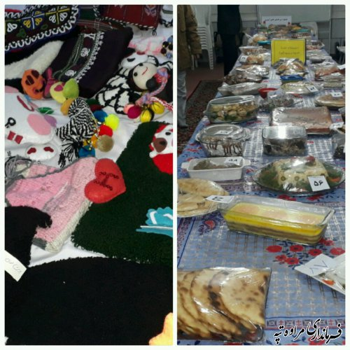 برپایی نمایشگاه صنایع دستی و غذایی در دبیرستان دخترانه گلیداغ