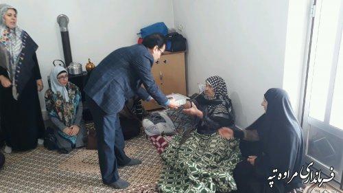 دیدار فرماندار شهرستان مراوه تپه با مادر شهید محمد قویدل