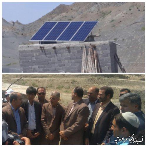 افتتاح بهره برداری از پنل خورشیدی