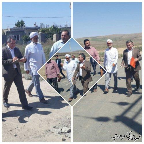 بازدید فرماندار شهرستان مرواه تپه از سایت اسکان روستای کچیک.