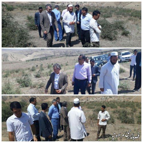 بازدید فرماندار شهرستان مراوه تپه از روستای آق چاتال.