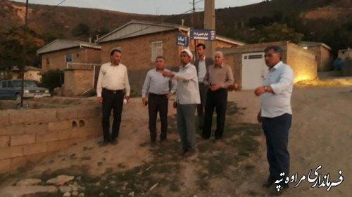 بازدید و بررسی مشکلات روستای بیاتلر توسط فرماندار و جمعی از مسئولین شهرستان مراوه تپه.