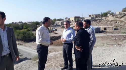 بررسی مشکلات روستای یکه چنار توسط فرماندار و تنی چند از مسئولین شهرستان مراوه تپه.