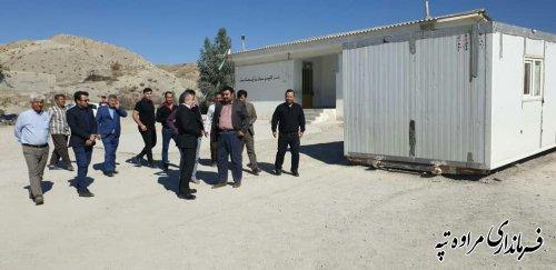 بازدید فرماندار شهرستان مراوه تپه از روستای آق قلعه بخش مرکزی.