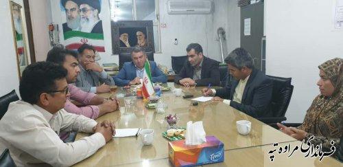حضور فرماندار شهرستان مراوه تپه در جلسه اعضای شورای اسلامی شهر مراوه تپه.