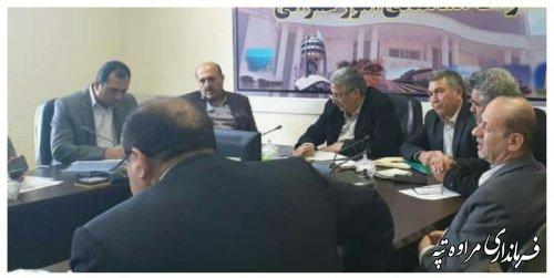 پیگیری مصوبه شورای اداری شهرستان مراوه تپه در مرکز استان.