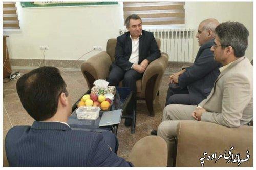 دیدار رئیس دانشگاه پیام نور گلستان با فرماندار شهرستان مراوه تپه.