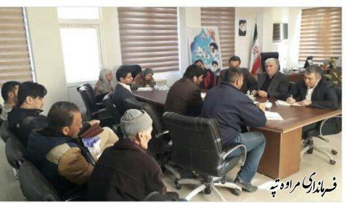 ملاقات عمومی فرماندار شهرستان مراوه تپه با تعدادی از اهالی این شهرستان