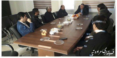 نشست مدیرکل امور مالیاتی گلستان با فرماندار شهرستان مراوه تپه.