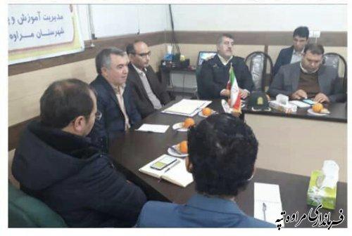 شهرستان مراوه تپه جزء ۴ شهرستان برتر استان در اجرای طرح سواد آموزی بوده است
