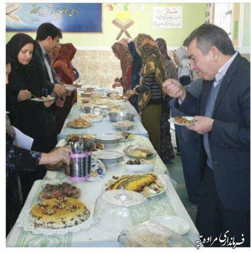 برگزاری جشنواره غذای بومی ومحلی در دبستان ابو حنیفه مراوه تپه.