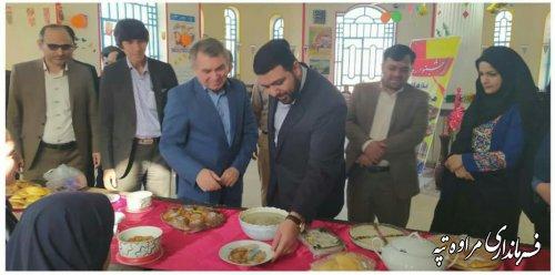 جشنواره غذای محلی و سنتی در دبیرستان شبانه روزی شهید چمران مراوه تپه.