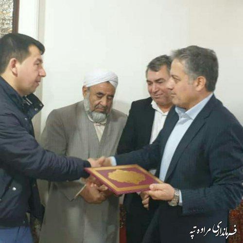 دیدار معاون سیاسی و امنیتی استاندار گلستان با خانواده شهید در مراوه تپه.