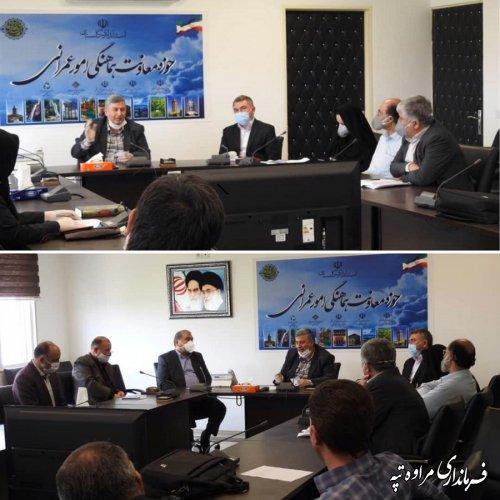 جلسه هماهنگی امور عمرانی استانداری گلستان برای هماهنگی اقدامات اجرایی مرتبط با رانش زمین در روستای آق مام برگزار شد.