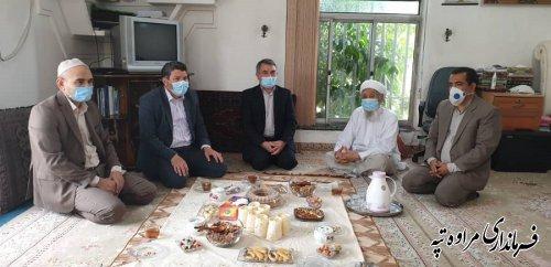 فرماندار مراوه تپه با امام جمعه شهرستان دیدار و عید سعید فطر را تبریک گفت