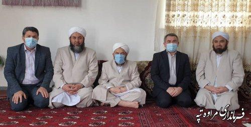 حضور فرماندار مراوه تپه در حوزه علمیه چنارلی و تبریک عید سعید فطر