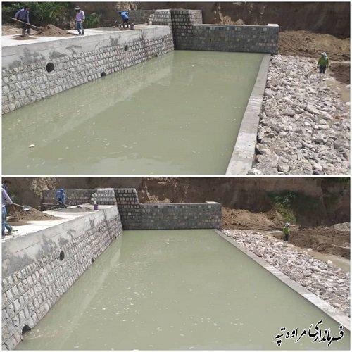احداث سازه های سنگی و ملاتی سایت 6و7 قرناق با اعتباری بالغ بر 12 میلیارد ریال