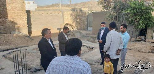 بازدید فرماندار مراوه تپه از شروع عملیات طرح مسکن محرومین قازانقایه