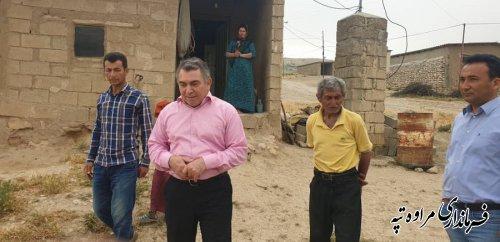 فرماندار مراوه تپه از روستای اوچران بازدید و با دهیار و اهالی روستا دیدار کرد
