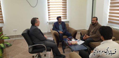 دیدار فرماندار مراوه تپه با مدیر عامل انجمن خیرین مسکن ساز استان گلستان