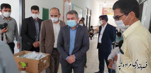 فرماندار مراوه تپه طی بازدید از امتحانات نهایی پایه دوازدهم بر رعایت پروتکل های بهداشتی تاکید کردند