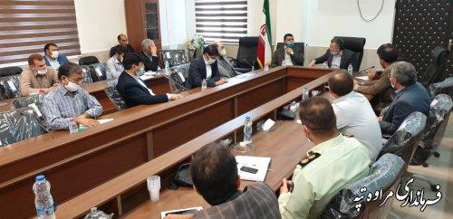 جلسه بررسی و تسریع حل مشکلات روستاهای طرح کوچ چایلی ( فراغی ) برگزار شد