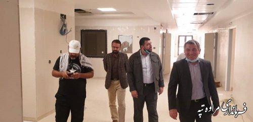 فرماندار مراوه تپه : بیمارستان 64 تختخوابی مراوه تپه با پیشرفت فیزیکی 94 درصد تا 45 روز آینده تکمیل خواهد شد