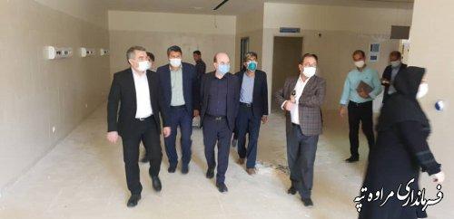 جلسه هماهنگی تامین نیروی انسانی و تجهیزات پزشکی مورد نیاز بیمارستان ۶۴ تختخوابی شهرستان مراوه تپه برگزار شد