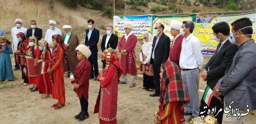 کلنگ زنی مدرسه خیر ساز روستای قوشه سو بخش گلیداغ