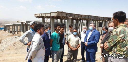 بازدید فرماندار مراوه تپه از پیشرفت فیزیکی پروژه واحد های مسکونی روستای آق امام