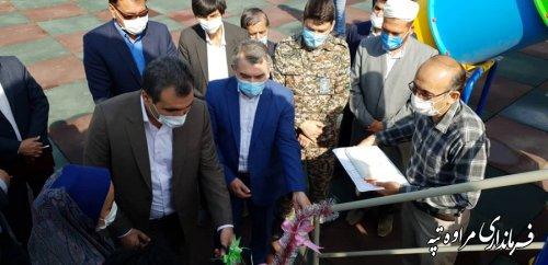 افتتاح متمرکز پروژه های شهرداری شهر مراوه تپه