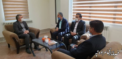 دیدار فرماندار مراوه تپه با مسئول نمایندگی دفتر وزارت امور خارجه در استان گلستان