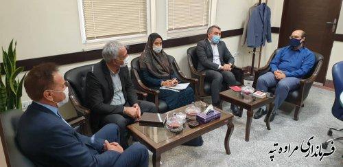 دیدار فرماندارمراوه تپه با مدیر عامل آب منطقه ای استان