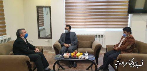 دیدار مدیر کل حفاظت محیط زیست استان با فرماندار مراوه تپه
