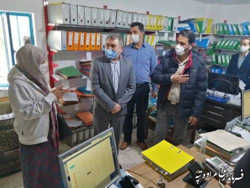 بازدید سرزده فرماندار مراوه تپه از روند اجرای پروتکل های بهداشتی و دستورالعمل های ستاد کرونای استان