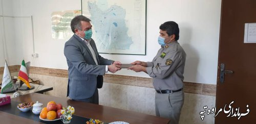 دیدار فرماندار مراوه تپه با کارکنان محیط زیست
