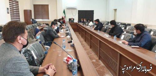 جلسه اجرایی شدن پروژه های مشارکتی بنیاد علوی شهرستان برگزار شد