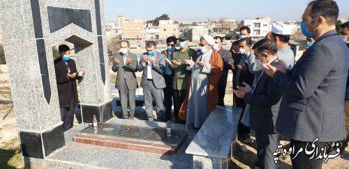مراسم غبارروبی مزار شهدا به مناسبت گرامیداشت ایام الله دهه مبارک فجربرگزار شد