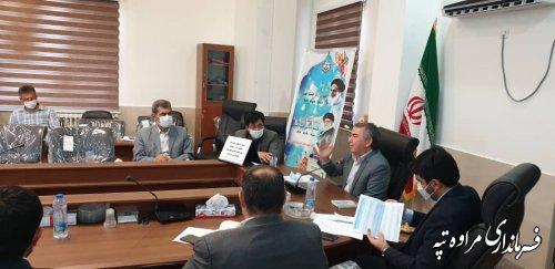 جلسه توجیهی با نامزدهای  شورای اسلامی شهر مراوه تپه و گلیداغ برگزار شد