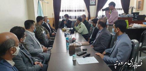 فرماندار به مناسبت هفته قوه قضائیه با رییس دادگستری شهرستان دیدار نمود.