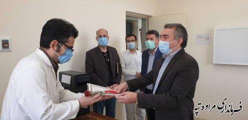 قدردانی فرماندار مراوه تپه بمناسبت روز پزشک از پزشکان
