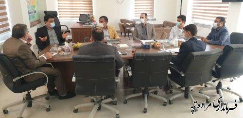 جلسه هماهنگی ، پیگیری برای تامین آب شرب روستاهای شهرستان مراوه تپه  برگزار گردید